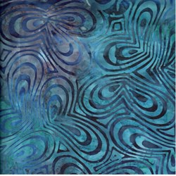 Anthology Hand Made Batik - Blue Ripples