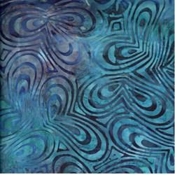 Anthology Hand Made Batik - Blue Ripples