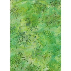 Anthology Art Inspired Collection Hand Made Batik -Green Floral
