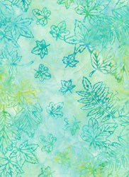 Anthology Jacqueline de Jonge Batik Print- Blue/Green Leaf