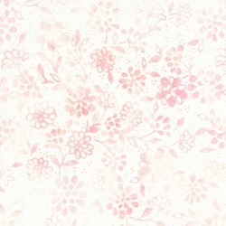 Anthology Hand Made Batik - Pale Pink & Cream Floral