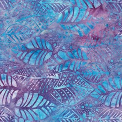 Anthology Hand Made Batik - Blue/Purple Leaf