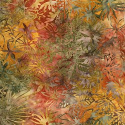 Anthology Hand Made Batik - Flower Garden Print on Multi-Color