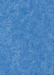 Anthology Art Inspired Collection Hand Made Batik -Blue Floral #20013