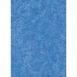 Anthology Art Inspired Collection Hand Made Batik -Blue Floral #20013