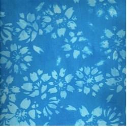"""8"""" Remnant - Anthology Hand Made Batik -Blue Print"""