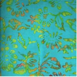 Anthology Hand Made Batik - Turquoise Print