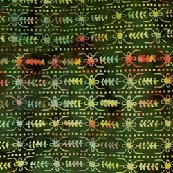 Anthology Hand Made Batik - Green and Gold Geometric