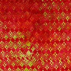 Anthology Hand Made Batik - Orange and Yellow Geometric