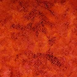 Anthology Hand Made Batik - Orange Geometric