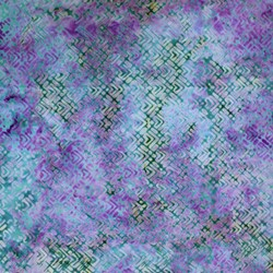 Anthology Hand Made Batik - Blues and Purples Geometric