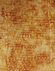 Anthology Hand Made Batik - Burnt Orange Scaly Print