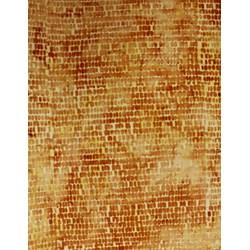 Anthology Hand Made Batik - Burnt Orange Scaly Print