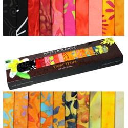 Anthology Batik Story Strips - Tropical Flowers
