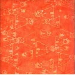Anthology Batiks - The Plains People of Turtle Island - Tee Pees on Orange