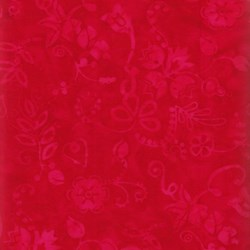 Anthology Batiks - The Plains People of Turtle Island - Red Tonal Leaf Print
