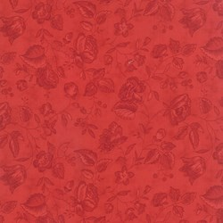 Vintage Find!   Austin Bluebirds by Minick & Simpson for Moda - Red Tonal Floral