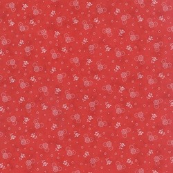 """End of Bolt- 74"""" - Vintage Find!   Austin Bluebirds by Minick & Simpson for Moda - Red Floral Print"""