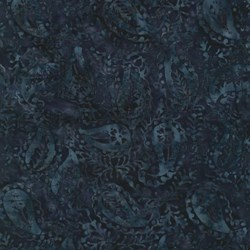 "End of Bolt - 77"" - Tonga Batiks -Lush Collection - Ink #B4166 - by Timeless Treasures"