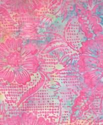 Batik Textiles- Pink Floral