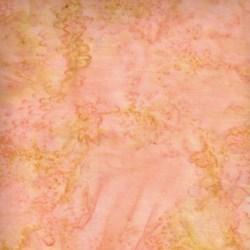 "End of Bolt - 74"" - Batik Textiles #5132- Peach & Gold"