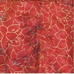 """14"""" Remnant -- Island Batik - Rust Floral"""
