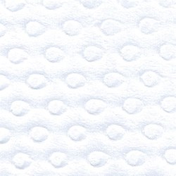 White Dot Minkee Fabric