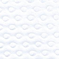 White Dot Minkee Fabric