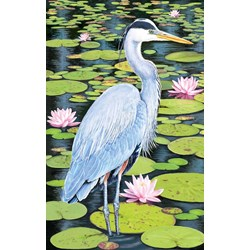 The Blue Heron Fabric Panel by Northcott
