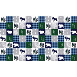 Beautiful  Cabin Quilt Cuddle in Navy - Shannon Fabrics -#CABINQUILTNAVY