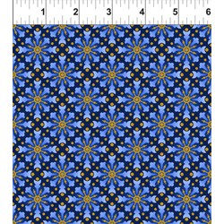 Celestial Collection -  Blue Star Medallion - by In the Beginning Fabrics