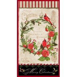 Christmas in the Wildwood- Panel  by Nancy Mink