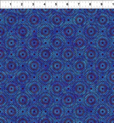 "16"" Remnant - Cosmos - Blue Bursts-  Jason Yenter for In the Beginning Fabrics"