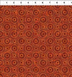 "26"" Remnant - Cosmos - Orange Bursts-  Jason Yenter for In the Beginning Fabrics"