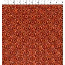 "26"" Remnant - Cosmos - Orange Bursts-  Jason Yenter for In the Beginning Fabrics"