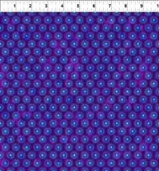 "End of Bolt - 55"" - Cosmos - Star Bursts on Purple  Jason Yenter for In the Beginning Fabrics"