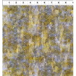 Cosmos - Lt. Green/Gray Diamondss -  Jason Yenter for In the Beginning Fabrics