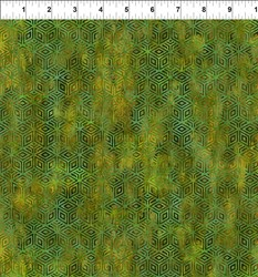 "29"" Remnant - Cosmos - Green Diamondss -  Jason Yenter for In the Beginning Fabrics"