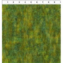 "29"" Remnant - Cosmos - Green Diamondss -  Jason Yenter for In the Beginning Fabrics"