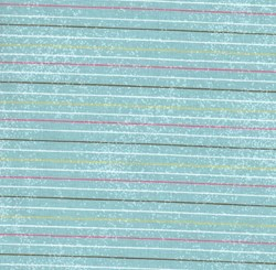 "End of Bolt- 47"" -  - Cotton Candy Aqua Strip by Clothworks"