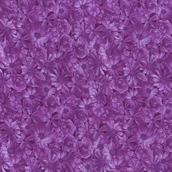 "End of Bolt - 43"" - Danscapes - Spring Symphony Purple - by Dan Morris for RJR Fabrics"