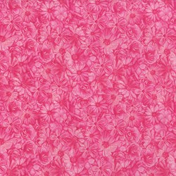 "End of Bolt - 54"" - Danscapes - Spring Symphony Pink - by Dan Morris for RJR Fabrics"