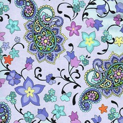 Lilac Gray Print - 5 Yard Backing Fabric by EBI Fabrics