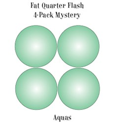 Vintage Fat Quarters- Circa  2012!  Aquas- Fat Quarter Flash 4-Pack Mystery