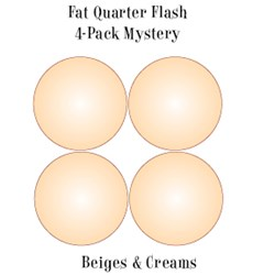 Vintage Fat Quarters- Circa  2012!  Beiges & Creams- Fat Quarter Flash 4-Pack Mystery