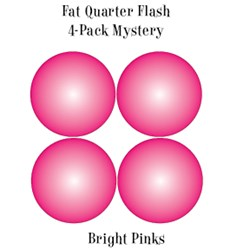 Vintage Fat Quarters- Circa  2012!  Bright Pinks - Fat Quarter Flash 4-Pack Mystery