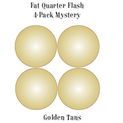 Vintage Fat Quarters- Circa  2012! Golden Tans- Fat Quarter Flash 4-Pack Mystery