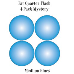 Vintage Fat Quarters- Circa  2012! Medium Blues - Fat Quarter Flash 4-Pack Mystery