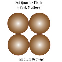 Vintage Fat Quarters- Circa  2012! Medium Brown - Fat Quarter Flash 4-Pack Mystery