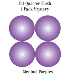 Vintage Fat Quarters- Circa  2012! Medium Purples- Fat Quarter Flash 4-Pack Mystery